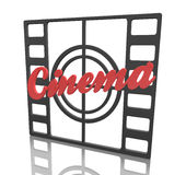 Cinema frame Stock Image