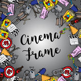 Cinema frame illustration Royalty Free Stock Images