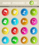 Cinema genres icon set. Cinema genres  icons for user interface design Stock Images