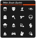Cinema genres icon set. Cinema genres  icons for user interface design Royalty Free Stock Photos