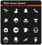 Cinema genres icon set. Cinema genres  icons for user interface design Stock Photos