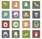 Cinema genres icon set. Cinema genres  icons for user interface design Stock Image