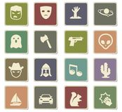 Cinema genres icon set Stock Images