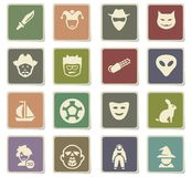 Cinema genres icon set. Cinema genres  icons for user interface design Royalty Free Stock Photography