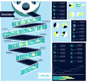 Cinema genres infographic Royalty Free Stock Images