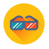 Cinema glasses icon Royalty Free Stock Images