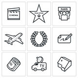Cinema and Glory icons Stock Photography