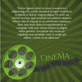 Cinema. A green tape with some white text in the background Stock Photography
