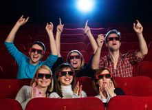 In a cinema Stock Photo