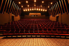Cinema hall. View from the screen side Royalty Free Stock Image