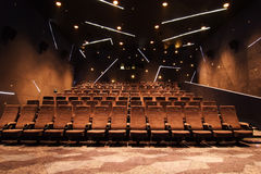 Cinema hall. View from the screen side Royalty Free Stock Photography