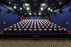 Cinema hall. View from the screen side Royalty Free Stock Photos