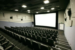 Cinema hall. In a modern multiplex Stock Photos