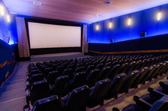 In cinema theater royalty free stock images