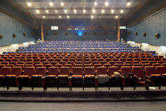 Cinema hall withrow of seats Stock Photography