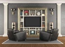 Cinema home no estilo clássico Imagens de Stock Royalty Free