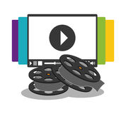 Cinema home video reel. Illustration eps 10 Stock Photo