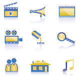 Cinema icon. Cinema and movie icon - vector icon set Royalty Free Stock Photos