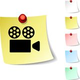 Cinema icon. Royalty Free Stock Photos