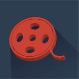 Cinema icon - Filmreel. Illustration Stock Images