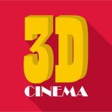 Cinema icon, flat style. Cinema icon. Flat illustration of cinema vector icon for web Stock Images