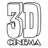 Cinema icon, outline style Stock Photos