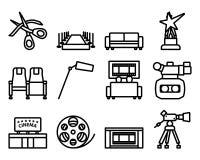 Free Cinema Icon Set Stock Photography - 220671452