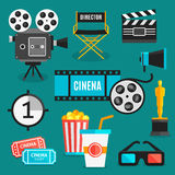 Cinema Icon Set Royalty Free Stock Photography