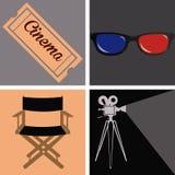 Cinema icon Royalty Free Stock Photos