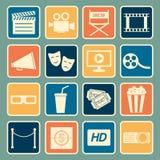 Cinema icon. Set of cinema icon,vector Stock Images