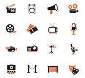 Cinema icon set Stock Image