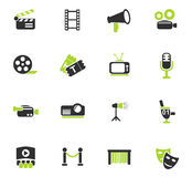 Cinema icon set Stock Photography