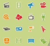 Cinema icon set Royalty Free Stock Photography