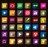 Cinema icon. This icon is very cool ,, pls download guys! thanks Stock Photo