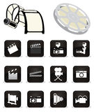 Cinema icons Stock Photo