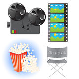 Cinema Icons Royalty Free Stock Photos