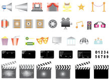 Cinema icons. Stock Images