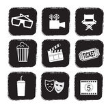 Cinema Icons Royalty Free Stock Image