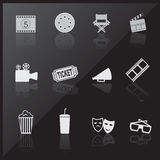 Cinema icons Stock Image