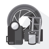 Cinema icons design Royalty Free Stock Photography