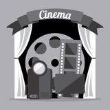 Cinema icons design Stock Image