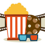 Cinema icons design Stock Images