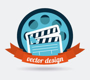 Cinema icons design. Cinema concept with movies icons design, vector illustration 10 eps graphic Royalty Free Stock Photo