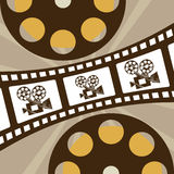 Cinema icons design Stock Photography