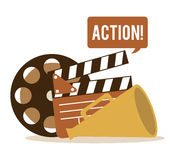 Cinema icons design Royalty Free Stock Images