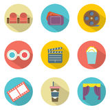 Cinema Icons Royalty Free Stock Images