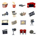 Cinema Icons Flat Royalty Free Stock Photography