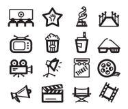 Cinema icons royalty free stock photography