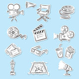 Cinema Icons Set. Beautiful Cinema Icons Set illustration Royalty Free Stock Photography
