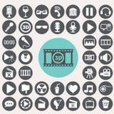 Cinema icons set. Stock Photos